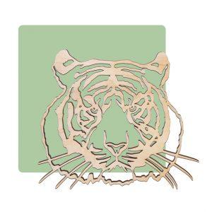 Houten wanddecoratie tijger