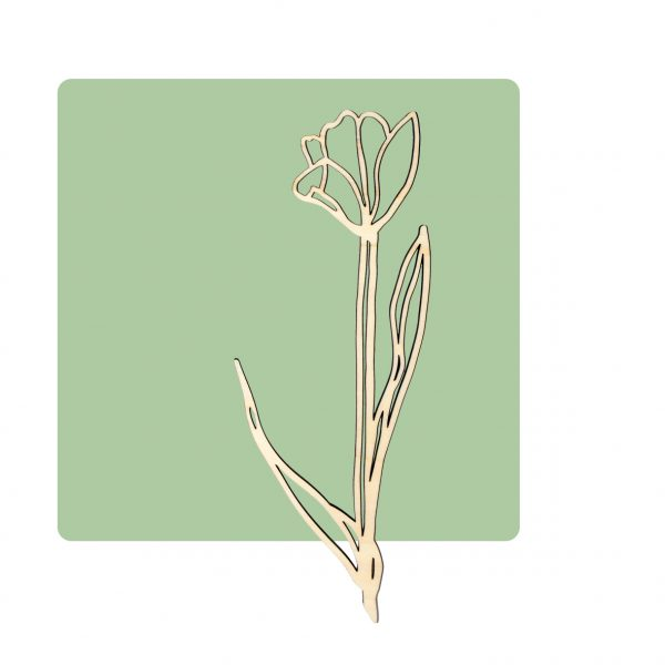 Houten wanddecoratie tulp